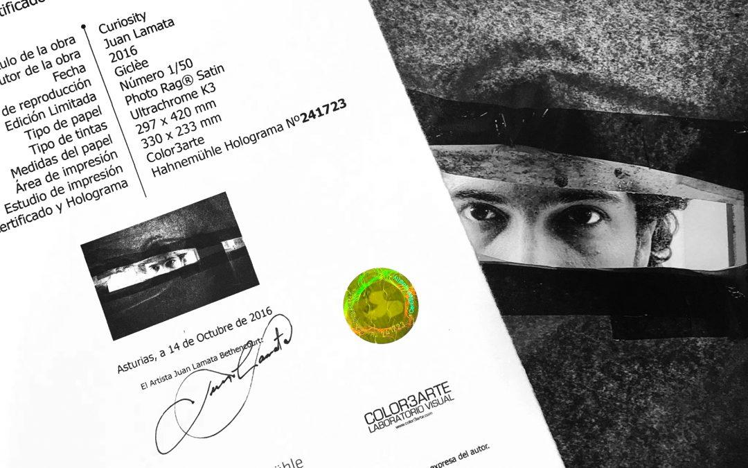 Copias Giclèe certificadas para rentabilizar tus obras.